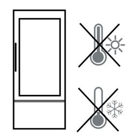 От радиатора, газовой плиты, духовки (источника тепла) до Холодильника должно быть расстояние 50 см и более