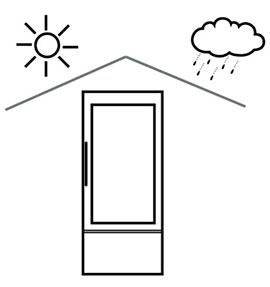 Защитить от прямых солнечных лучей и дождя. Не ставьте Холодильник возле окна и на балконе